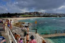 Bronte beach from Bronte ocean pool