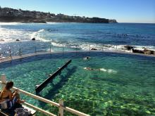 Winter swim at Bronte