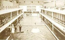 Interior of the Coogee Aquarium at which many of the early Eastern Suburbs Ladies Swimming Club events were held