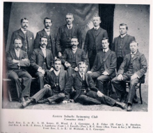 Committee members of the all male Eastern Suburbs Swimming Club - 1906. Most likely derived from the Waverely Swimming Club